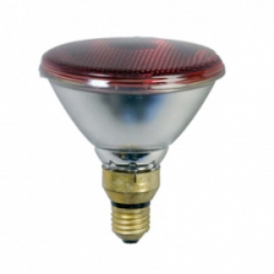 Лампа инфракрасная для обогрева животных и птицы EIDER Landgerate GmbH, 175 Вт PAR, красная