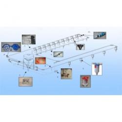 Aвтоматизированная механическая цепь - шайбовая система раздачи сухих кормов
