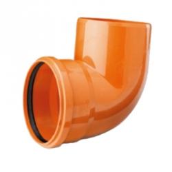 Отвод 90° канализационной системы, d 110 мм