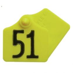 Бирка ушная Primaflex № 1, без номера, для коров, свиней