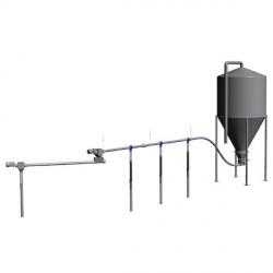 Cистема спираль для транспортировки кормов для свиноматок и поросят